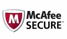 Transazioni pagamenti sicure controllate da McAfee