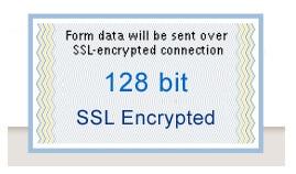 pagamenti criptati SSL con tecnologia 128 bit