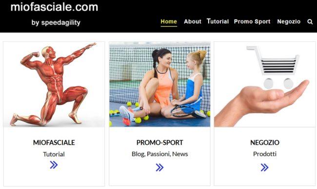 miofasciale.com il nuovo sito di speedagility con tutorial blog negozio