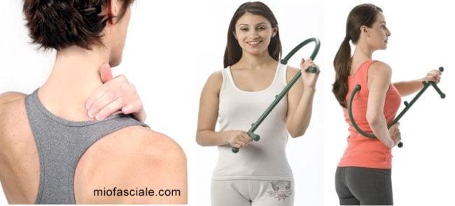 Il theracane è utile per automassaggio e risolvere problemi quali trigger point, dolori cervicali, tendinit, spalla congelata, capsulite adesiva, riabilitazione post infortunio, mal di schiena