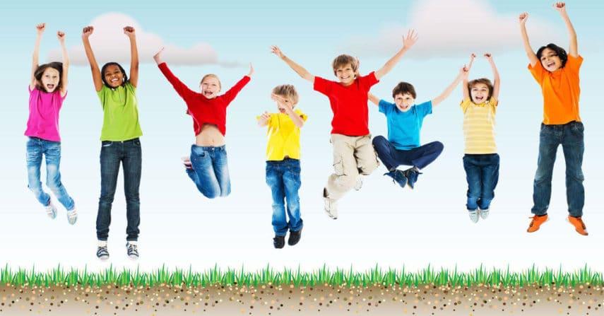 bambini, sport, movimento, giochi, aria aperta, ginnastica