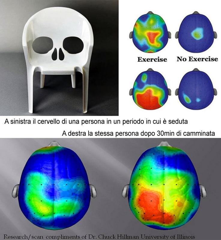 sedentarieta, esercizio fisico, camminata, muoversi