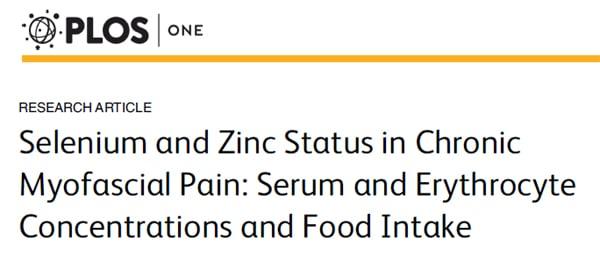ruolo di zinco e selenio nel trattamento del dolore miofasciale