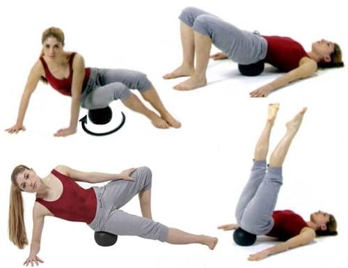 palla massaggio miofasciale, automassaggio, cellulite, glutei